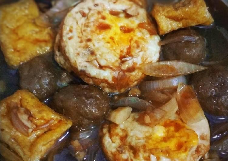 Semur kecap (tahu bakso telur)