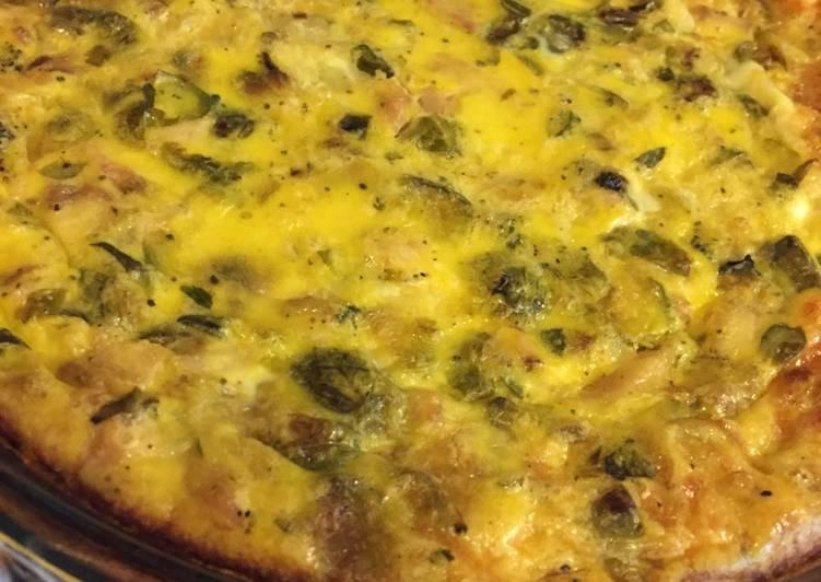 Recipe of Quick Basic crust less quiche