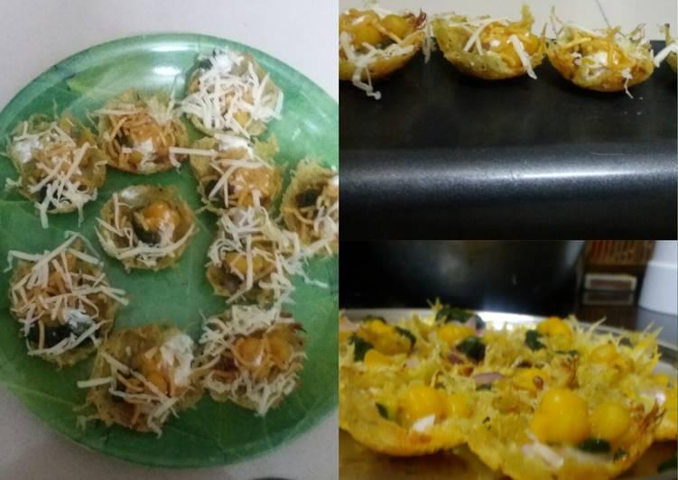 Potato roasties paniyaram chaat