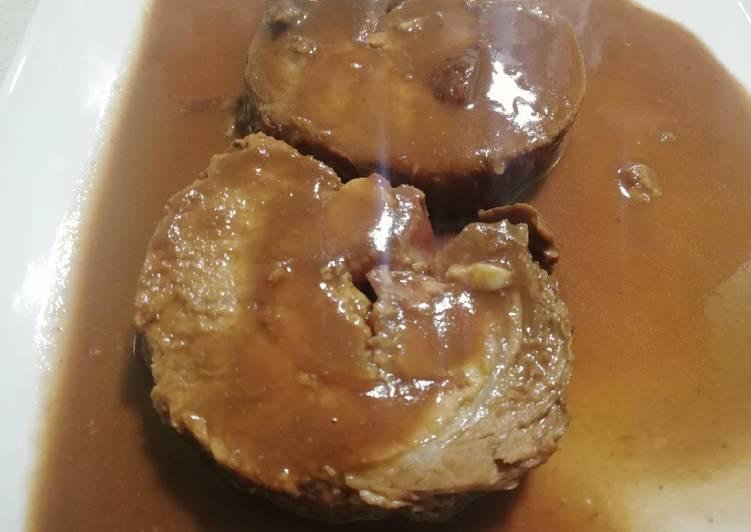 Redondo De Cerdo Relleno Con Salsa De Pedro Ximénez Receta De Mariruro Cookpad