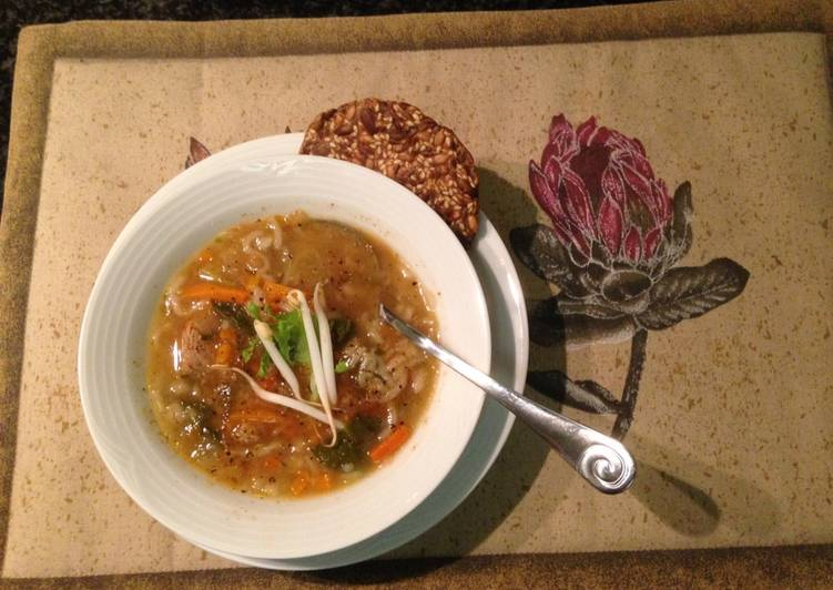 Recipe of Favorite Winter Beef and veggie soup