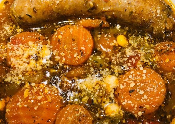 Quick Italian Sausage Veggie Soup 🥣