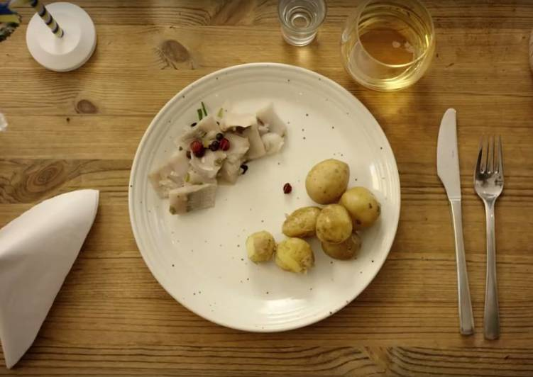 Easiest Way to Make Super Quick Homemade One kind of Pickled Herring