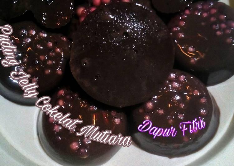 Puding Jelly Cokelat Susu Mutiara