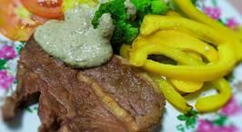 Hình ảnh món Beef-steak sốt kem nấm