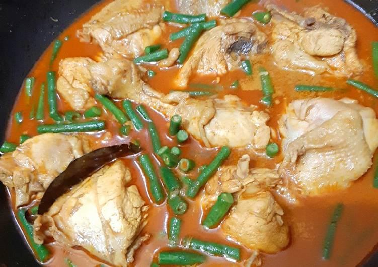 Resep Gulai ayam kacang panjang Yang Simple Bikin Ngiler