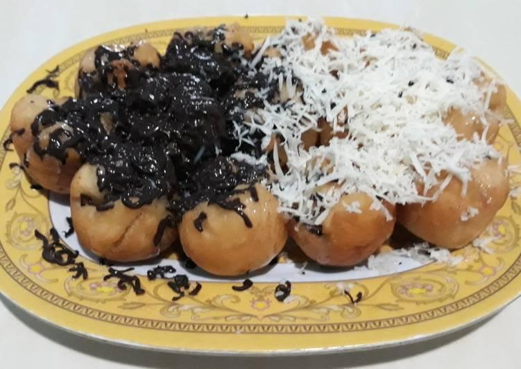 Resep Donat Borneo Sg Donat Bulat Isi Coklat Keju Simpel No Telor Oleh Silva Gupran Cookpad