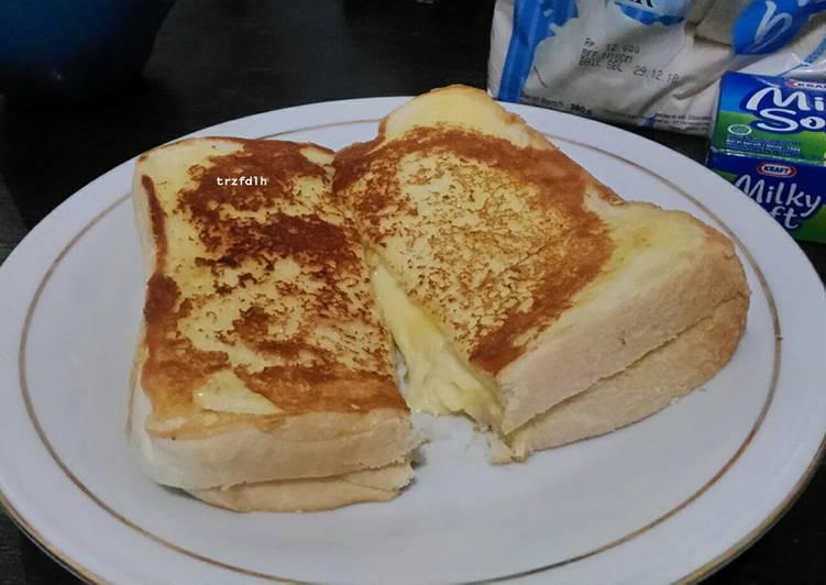 Resep Hokkaido Cheese Toast / Roti Keju Panggang Terenak