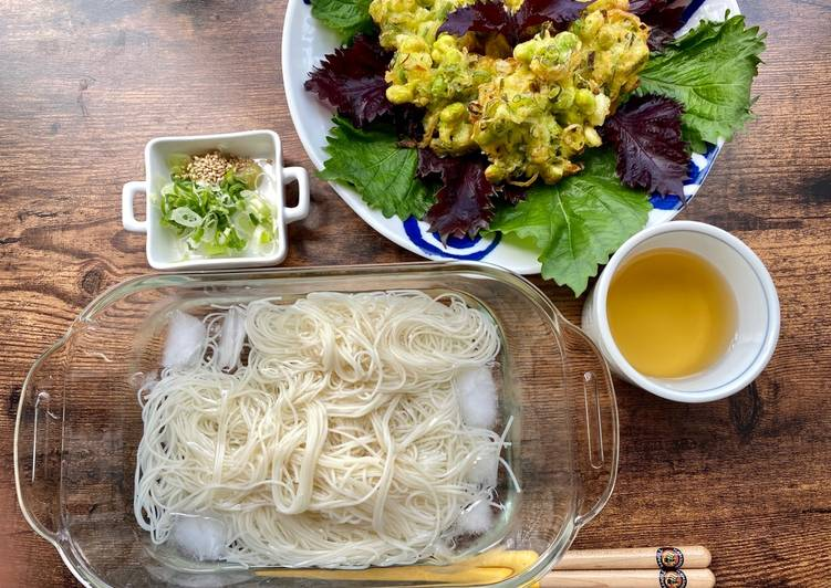 Steps to Prepare Favorite Edamame Tempra for summer noodles lunch