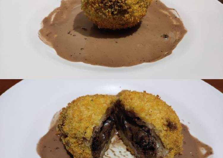 Ice cream goreng brownies - cookandrecipe.com