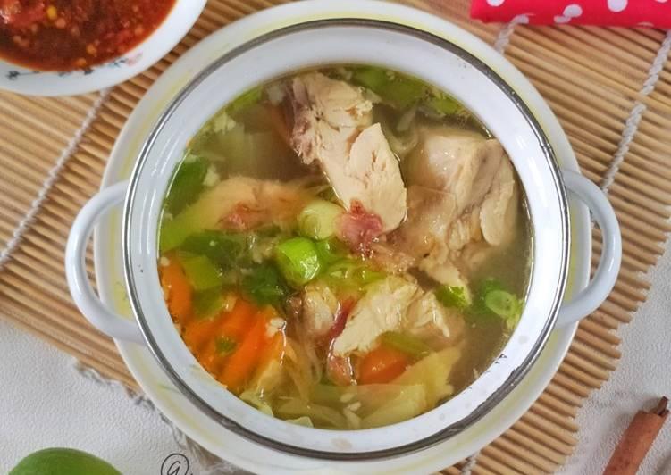 Sop Ayam Ala Pak Min Klaten