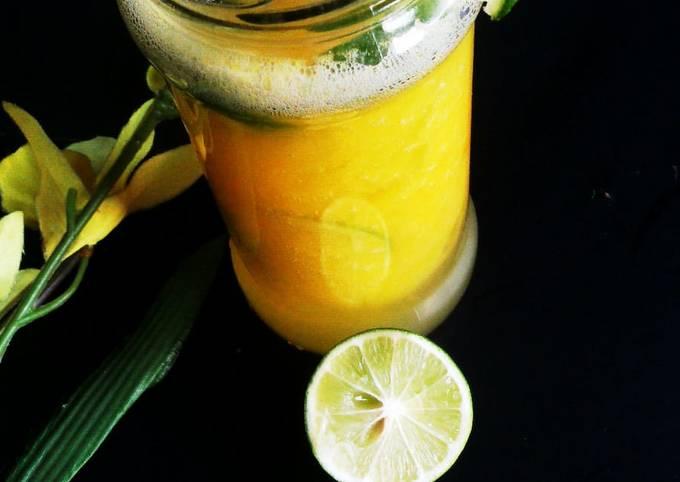 Sweet and tangy mango Lemonade🍹jar