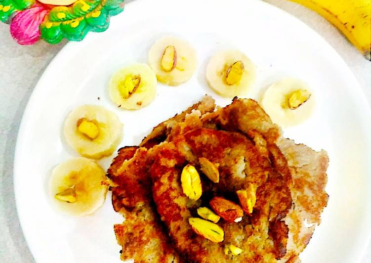 Easiest Way to Make Any-night-of-the-week Banana Poha Jaggery Pancakes