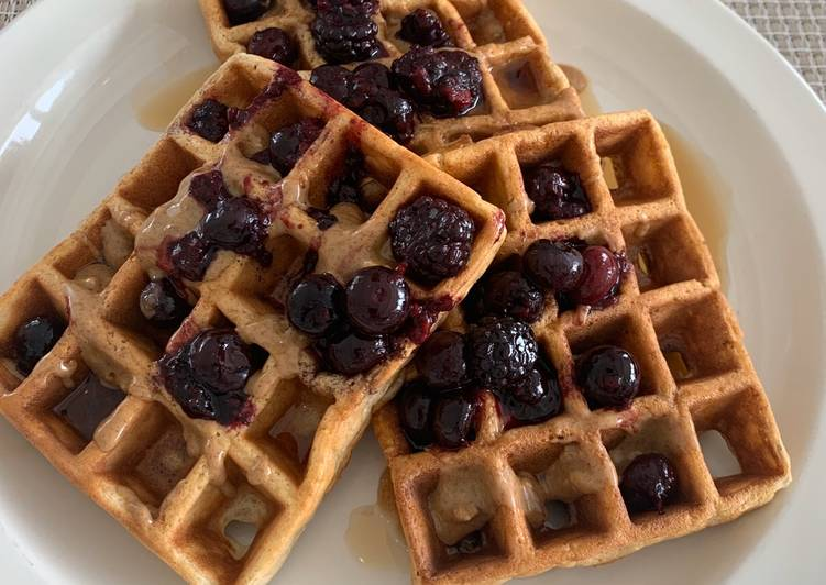 Fiber Waffles (with wheat bran, eggs)