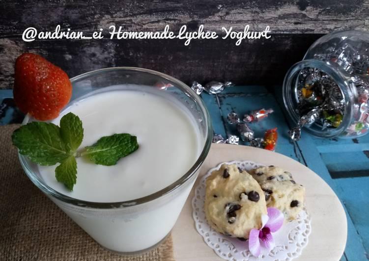 Homemade Lychee Yoghurt