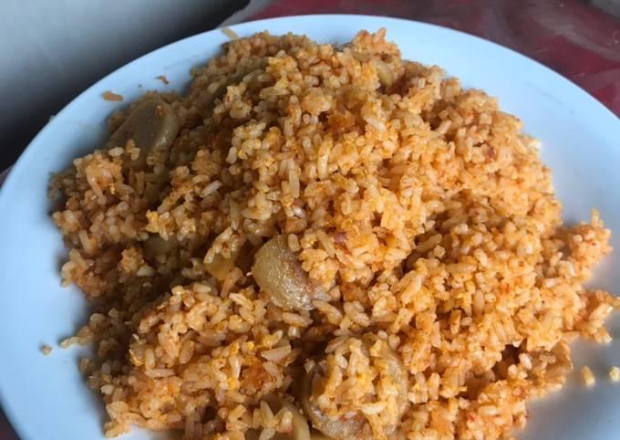 Nasi Goreng Bumbu Merah Topping Baso (simple)