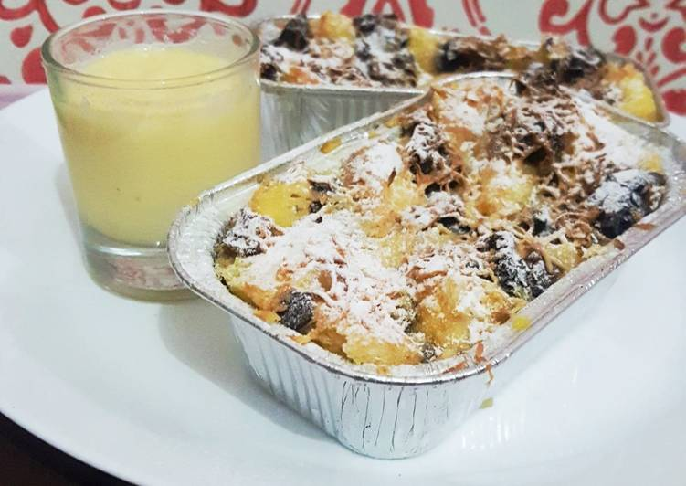 Banana Bread Pudding Vla vanila enak mudah