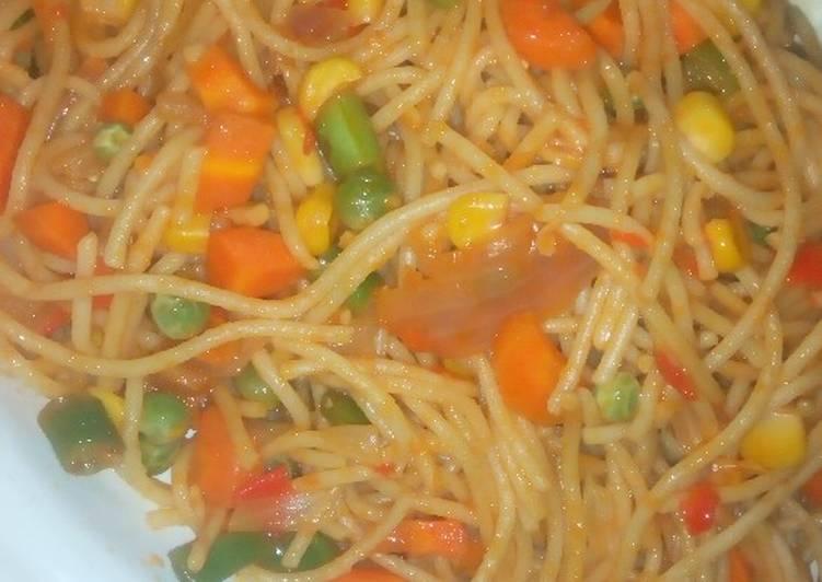 Recipe of Favorite Veggies spaghetti