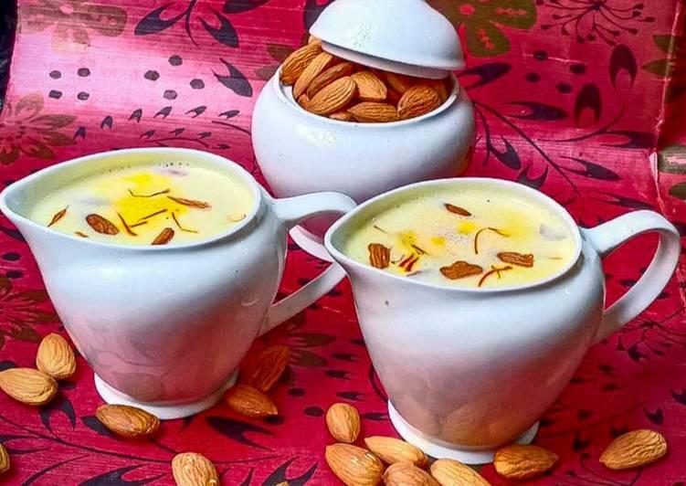 Easiest Way to Prepare Top-Rated Kesar Badam Milk