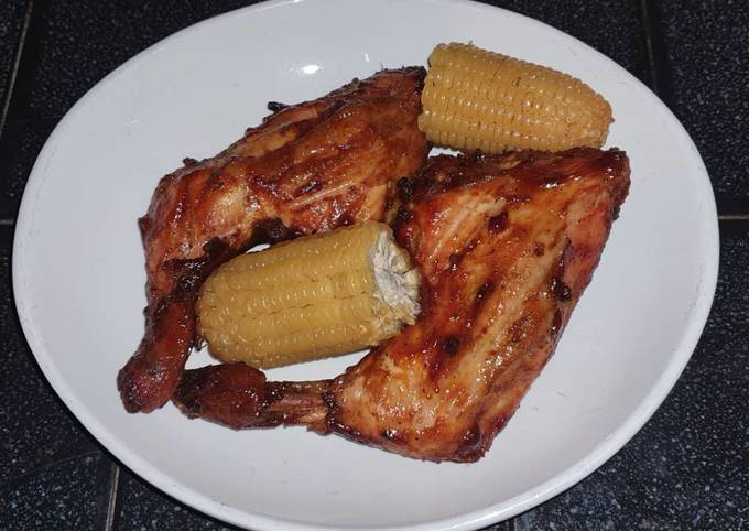 Oven Grilled Barbeque Chicken Quarters