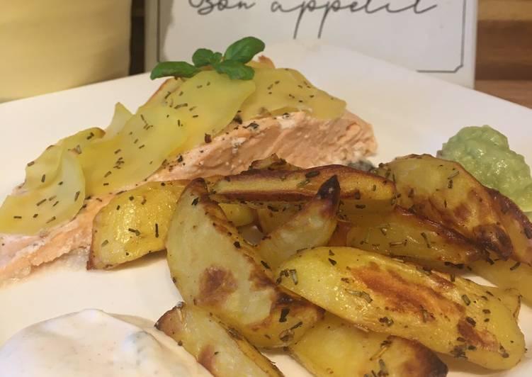 Ofenlachsfilet mit Kartoffelhaube