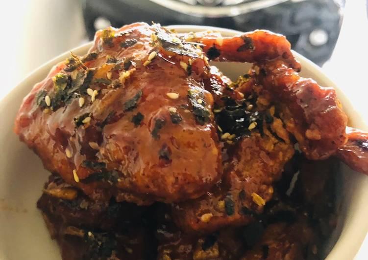 Sayap Ayam Goreng ala Korea