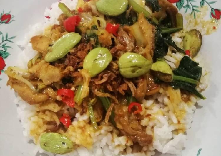 Nasi ayam sayur (krengseng sayur) Surabaya