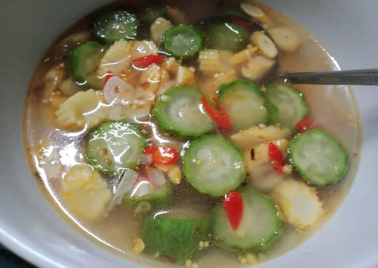 Resep Sayur Oyong w/ Jagung Muda Yang Populer Pasti Lezat