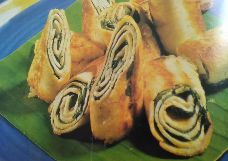 Simple Way to Make Favorite #Cheese# cottage Cheese & Spinach Rolls