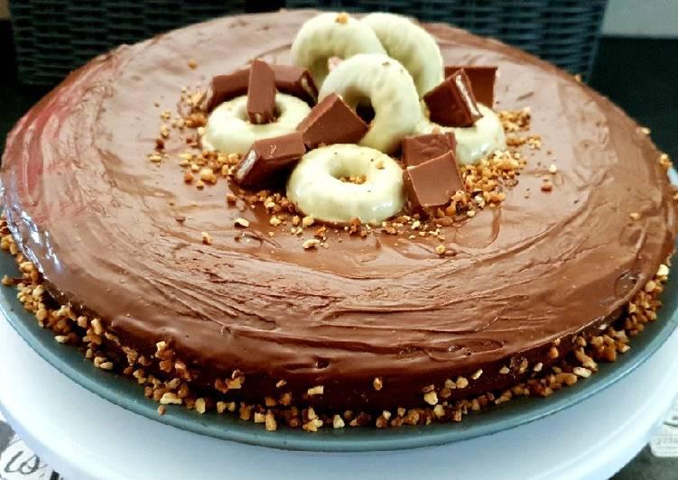 recette Gateau kinder maxi glaçage Nutella Le plus simple