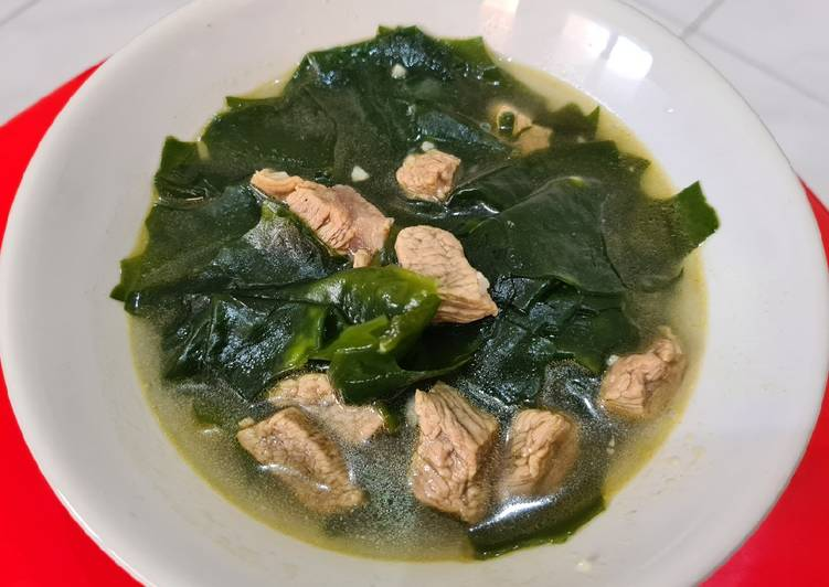 Mi Yeok Guk (Sup Rumput Laut), resep asli orang Korea