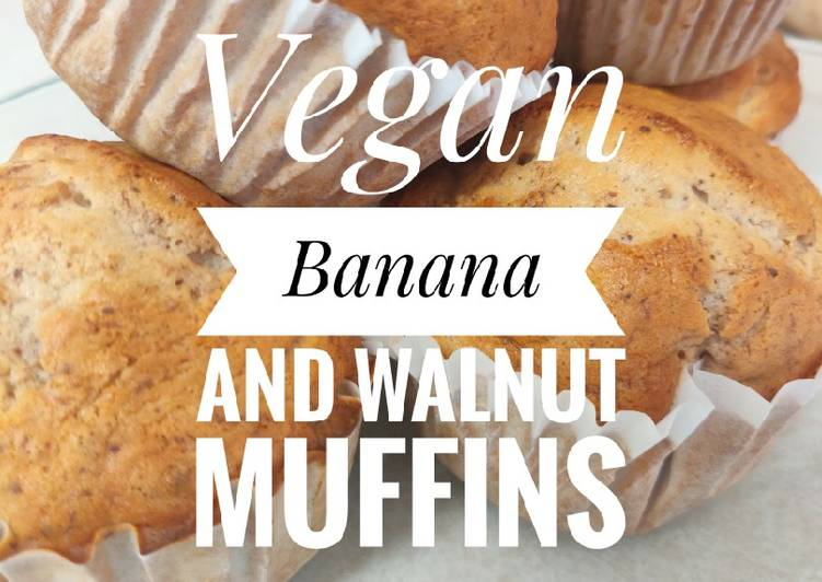 Vegan Banana and Walnut Muffins🍌