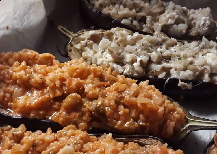 Berenjenas rellenas de Feta y Mozzarella