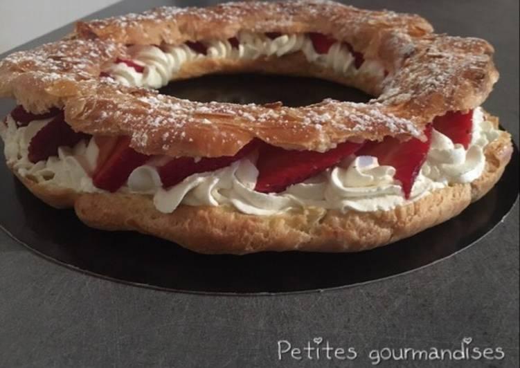 Recette Des Paris Brest chantilly fraise