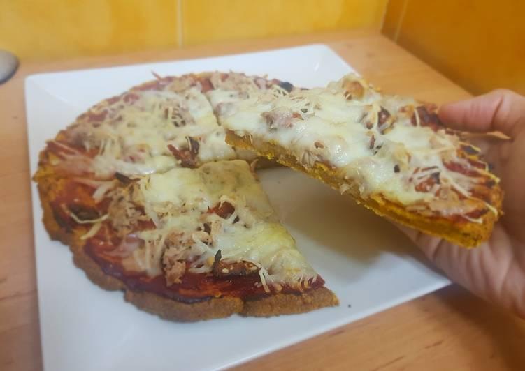 Pizza con base de zanahoria