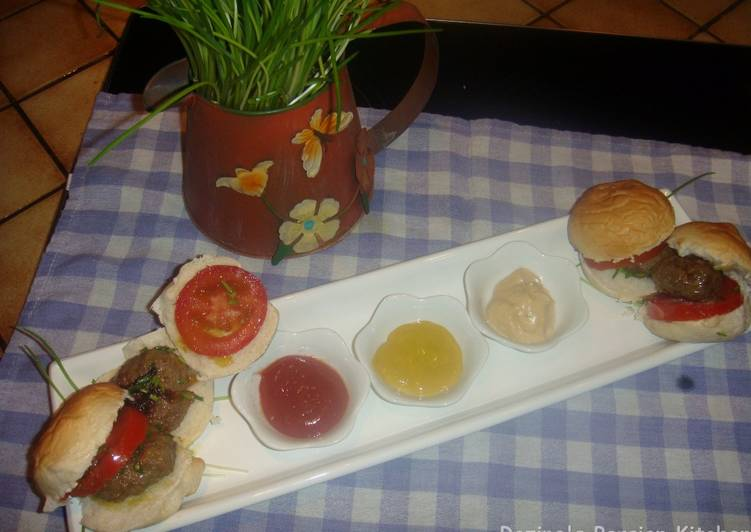 My Persian style home made burger