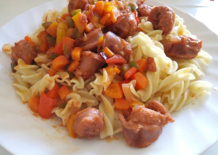 Recipe: Delicious Pasta and Sausage Stew Sauce