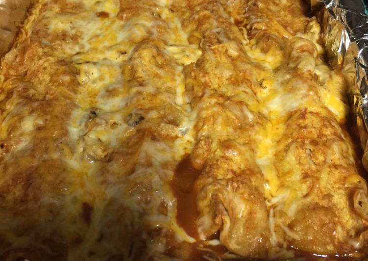 Simple Cheese Enchiladas