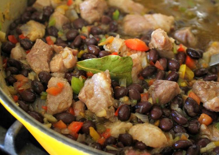 Cuban-Inspired Pork & Black Bean Stew (Stovetop & Slow Cooker)