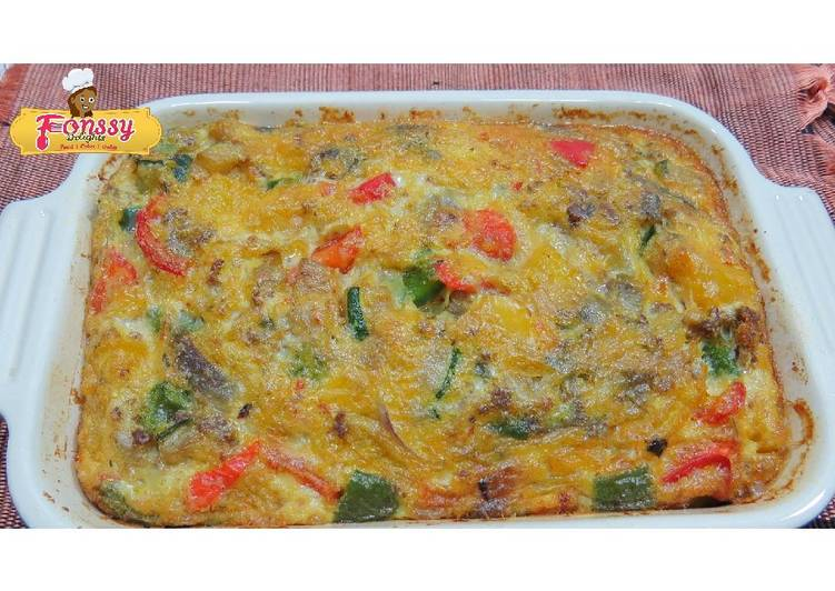 Egg and minced beef frittata