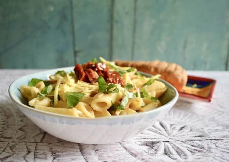 Recipe of Super Quick Homemade Sun Dried Tomato Alfredo Pasta