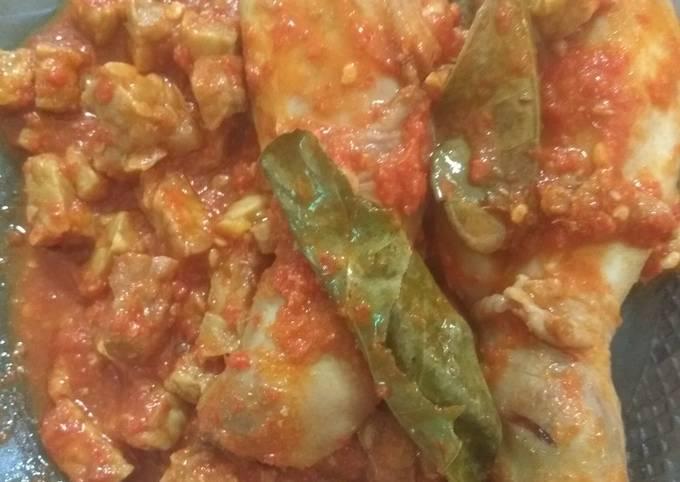Ayam & Tempe Balado Jeruk Nipis