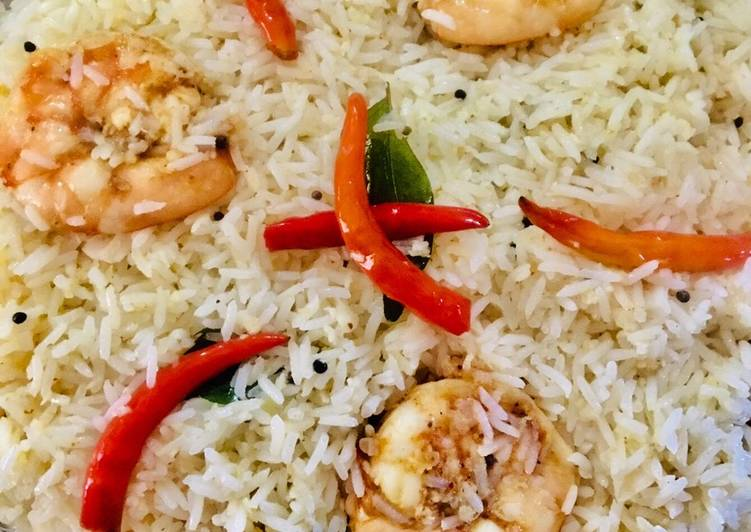 Prawn coconut pulao Choosing Fast Food That's Very good For You