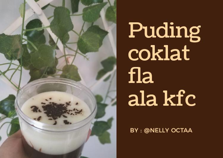 Puding coklat fla ala kfc