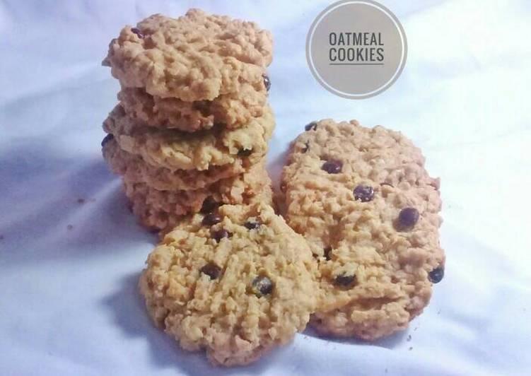 Oatmeal Cookies (enak, renyah, healthy😄)