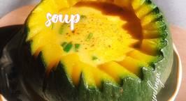 Hình ảnh món Soup cá hồi bí đỏ(pumpkin salmon soup)