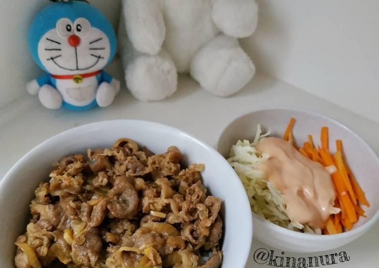 Beef Teriyaki dan Salad ala Hokben
