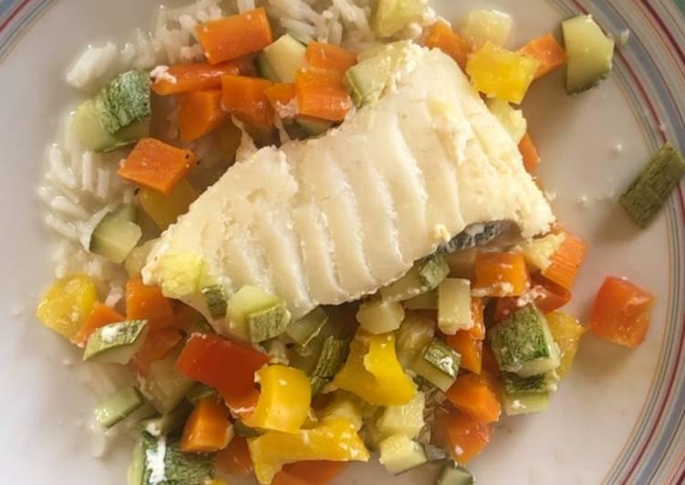 Easiest Way to Cook Tasty Cabillaud et ses petits légumes en papillote