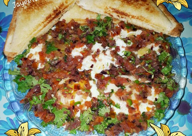 Easiest Way to Prepare Favorite Water Poached Eggs with Spicy Masala