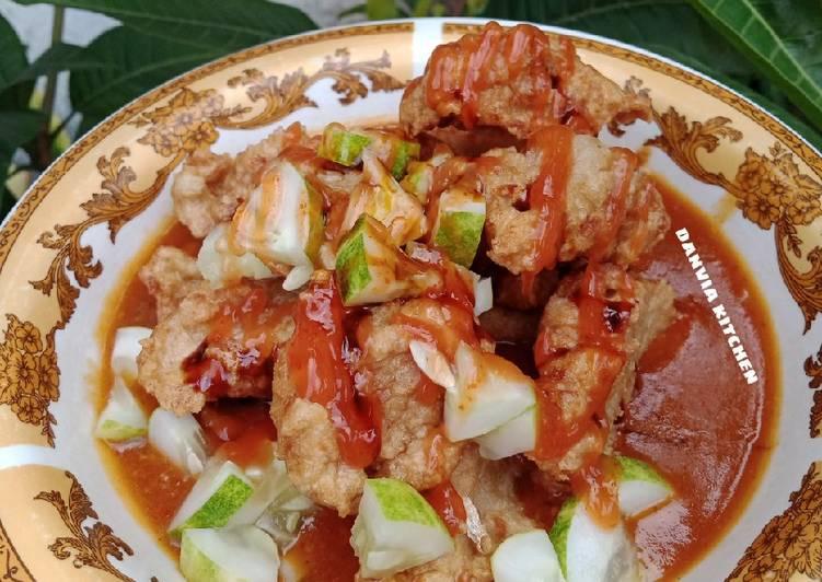 resep cara mengolah Batagor Ikan Kuah Kacang